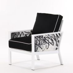 Graffiti Club Chair Blk Wht I, $1,899, now featured on Fab.