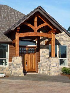 Timber Framed Entryways Showcase craftsman entry