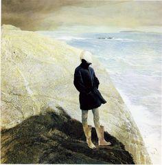 """unburyingthelead:""""On the Edge"""" by Andrew Wyethilu andrew wyeth"""