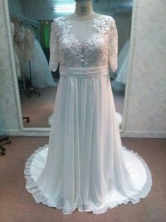 Have plus size wedding gowns like this made in your exact measurements.  Custom wedding gown designs & #replicas of couture wedding dresses are also an option.