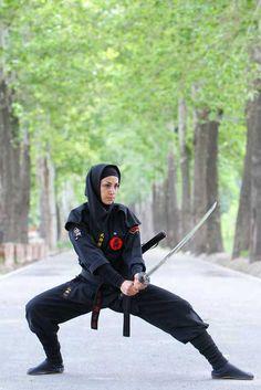 Female ninjas show combat skills - add me on Facebook - http://facebook.com/kurt.a.tasche