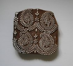 Paisley Wood Block Stamp  Hand Carved Wooden Stamp by GilbertsTree, $45.00