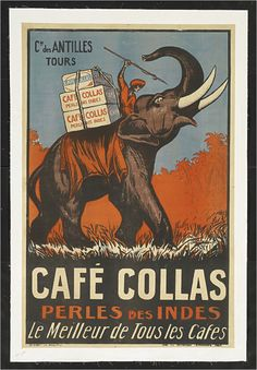 French Coffee Ad Poster