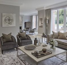 48 Stunning Formal Living Room Decor Ideas That Look The Most Elegant - Living Room Design - Pinit Life Style Transitional Living Rooms, Greige Living Room, Trendy Living Rooms, House Interior, Formal Living Room Decor, Living Room Grey, Contemporary Decor Living Room, Elegant Living, Living Decor