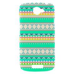 New Green Aztec Pattern HTC One S  Hardshell Case Cover HTC One S Case Pink Aztec Pattern. $17.00, via Etsy.
