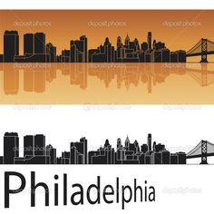 philadelphia skyline silhouette - Google Search