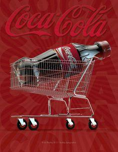 Coca Cola shopping cart