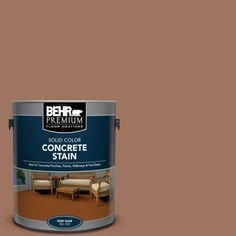 The BEHR Premium Solid Color Concrete Stain is a durable, weather resistant, solid color stain designed to help protect and enhance both exterior and interior, vertical and horizontal concrete surfaces. Concrete Porch, Concrete Bricks, Concrete Stone, Stained Concrete, Concrete Floors, Brick Masonry, Masonry Wall, Flat Interior, Interior Exterior