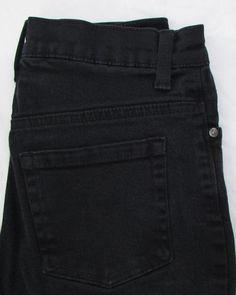 Gloria Vanberbilt Amanda Black Jeans Straight Leg Mid Rise Stretch sz 4P X 28 #GloriaVanderbilt #StraightLeg
