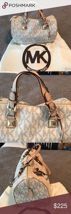 ddeba125037054 Vanilla MK Grayson handbag Never used! Vanilla MK logo with leather handles  and gold hardware