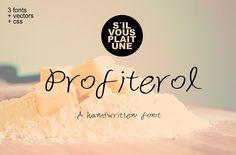 Profiterol Handwritten Font by Gabriela Cárdenas on @creativemarket