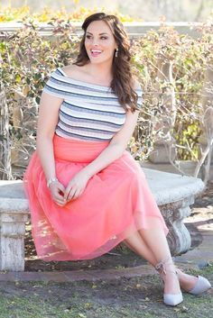 Most plus size women feel apprehensive about buying skirts. However, skirts happen to be the best friend of a plus size woman.