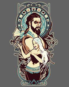 Dothraki Nouveau. Couldn't resist a Drogo & Dany t-shirt.