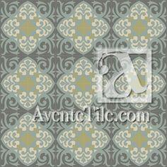 """Mission Espanola 8"""" x 8"""" Handmade Cement Tile   Avente Tile"""