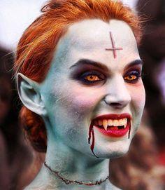 Maquillage d'Halloween pour vampire