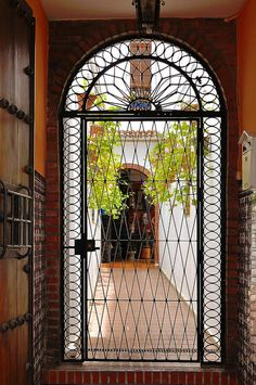 Córdoba : Wrought iron door ( 1865 ) Spain