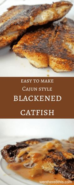 This easy to make pan fried Blackened Cajun Catfish is coated with spicy blackened seasoning and fried in butter - it's melt-in-your-mouth incredible! Cajun Catfish Recipe, Grilled Catfish Recipes, Fried Catfish, Creole Recipes, Cajun Recipes, Seafood Recipes, Cooking Recipes, Seafood Meals, Egg Recipes