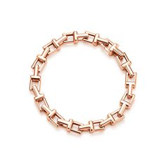 I like that it is modern with an edge, but still very elegant. // Tiffany T chain bracelet in 18k rose gold by Tiffany & Co.