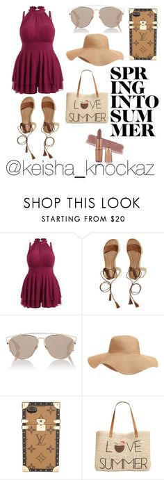 """""""Pool Side Babe (Plus Size)"""" by keishamoore1986 ❤ liked on Polyvore featuring Hollister Co., Christian Dior, Old Navy, Louis Vuitton and Style & Co."""