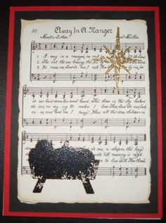 Christmas Cards - First Christmas by sewnsun - Cards and Paper Crafts at Splitcoaststampers christianchristmascards Homemade Christmas Cards, Christmas Cards To Make, Christmas Music, Xmas Cards, First Christmas, Homemade Cards, Handmade Christmas, Holiday Cards, Christmas Verses