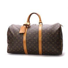 b4052a5f141 Louis Vuitton Keepall 50 Monogram Luggage Brown Canvas M41426