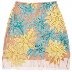 Nasty Gal x For Love & Lemons Wild Flower Embroidered Skirt