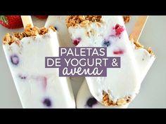 Estas deliciosas paletas de yogurt con avena crujiente y fruta te van a encantar. Deliciosas, fáciles de preparar y ¡le encantan a chicos y grandes!