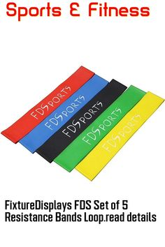 (This is an affiliate pin) FixtureDisplays FDS Set of 5 Resistance Bands Loop, Exercise/Resistance Bands for Legs, Working Out/Physical Therapy Bands 16052 Resistance Band Exercises, Physical Therapy, Physics, Exercise Bands, Workout, Fitness, Work Out, Physical Therapist, Physique