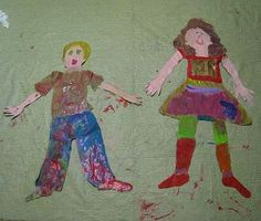 hooray! @candaceapril had her kids paint life-sized self-portraits!