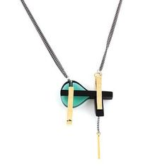 Glass Art Deco Necklace, $54, now featured on Fab.