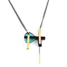 Glass Art Deco Necklace byAnne-Marie Chagnon