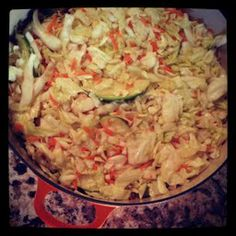 Mango & Tomato: Russian Salted Cabbage with Carrots, Garlic & Apples: Russian Recipes Revisited