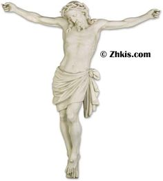 Jesus Statue For a Cross. This crucified statue of Jesus is made from durable fiberglass and is designed for indoor and outdoor use. It comes with optional mounting hardware upon request. The piece also has several finish options available for it.