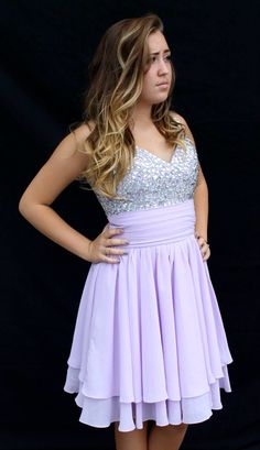 Super trendy new short homecoming dress! Purple size medium ...