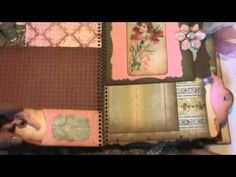 Like the different page shapes.  lots of pictures at the blog http://shabbybeautiful.blogspot.com/2012/06/shabby-chic-vacation-smash-book.html