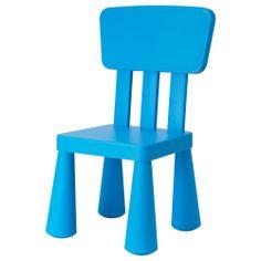 MAMMUT Chaise enfant - bleu - IKEA