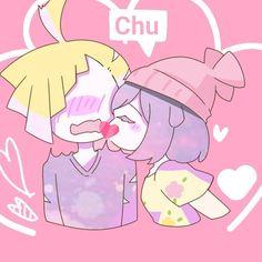 I like you. :chu on gladion cheek: Gladion: ///////!