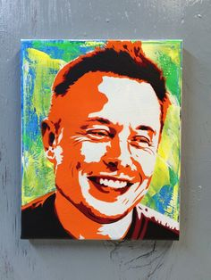 Elon Musk  Ready to Hang Art on Stretched Canvas by PlanetGiggles