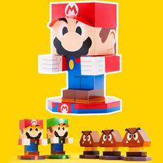 Paperized: Mario & Luigi : Paper Jam Paper Toys