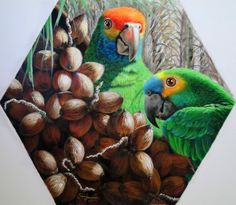 Papagaios - acrílica sobre tela -105x125 cm www.rosefernandes.com.br