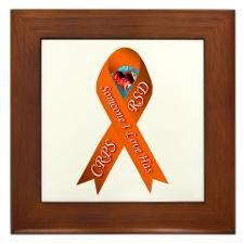 Someone I Love has CRPS Orange Ribbon Framed Tile