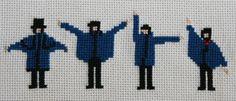 "Borduurpatroon The Beatles Kruissteek *Cross Stitch Pattern ~""Help""~"