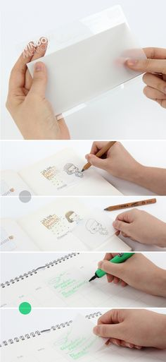 These tracing sticky notes are perfect for taking notes in textbooks without leaving a mark! Stationary School, Cute Stationary, Rn School, School Stuff, High School, Life Planner, Happy Planner, Korean Stationery, School Supplies