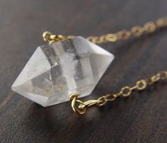 Herkimer Gold Necklace / by Friedasophie looks like the necklace from smallville
