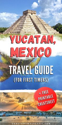The Beginners Travel Guide to the Yucatan, Mexico - top places to visit, what to see and do, highlights including adventure parks and watersports, discover hidden gems at the cenotes and mayan ruins, wander ancient Mayan and colonial cities, enjoy stunning white sand beaches and paradise islands, swim with turtles and dolphins, plus more. #yucatan #travelguide #mexicoitinerary #yucatanitinerary #travel