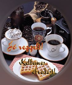 Good morning it's coffee time ~. Good Morning Breakfast, Good Morning Coffee, Good Morning Gif, Good Morning Greetings, Morning Images, Morning Quotes, Coffee Gif, I Love Coffee, Coffee Break