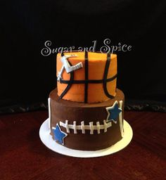Spurs and Dallas cowboys themed buttercream cake