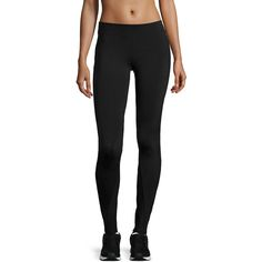 Solow Eclon® Contrast-Inseam Leggings ($28) ❤ liked on Polyvore featuring pants, leggings, black, mesh jersey, wicking pants, mesh pants, solow leggings and jersey pants