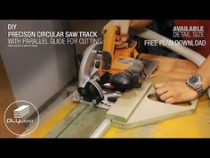 Precision Circular Saw Track with Parallel Guide - YouTube Circular Saw Track, Mini Circular Saw, Rip Cut, Woodworking Jigs, Workshop, Easy, Youtube, Diy Tools, Wood Working