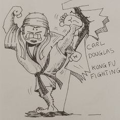 Music Cover parody pt 37 Carl Douglas - Kung Fu Fighting (1974)  Sketching idea for acrylic Paint  #inktober #inktober2016 #carldouglas #discomusic #coverlp #parody #caricature #kungfufighting #kungfu #dancethekungfu #love #instadaily #instagood #summer #me #instagramhub #tbt #follow #cute #iphoneonly #photooftheday #igdaily #instamood #bestoftheday #iphonesia #picoftheday #igers #girl #tweegram #beautiful